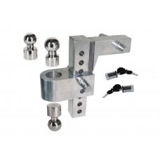 "Aluminum Adjustable Hitch Mount 8"" Drop"