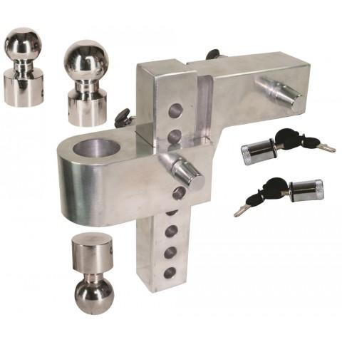 Aluminum Adjustable Hitch Mount 6 Drop